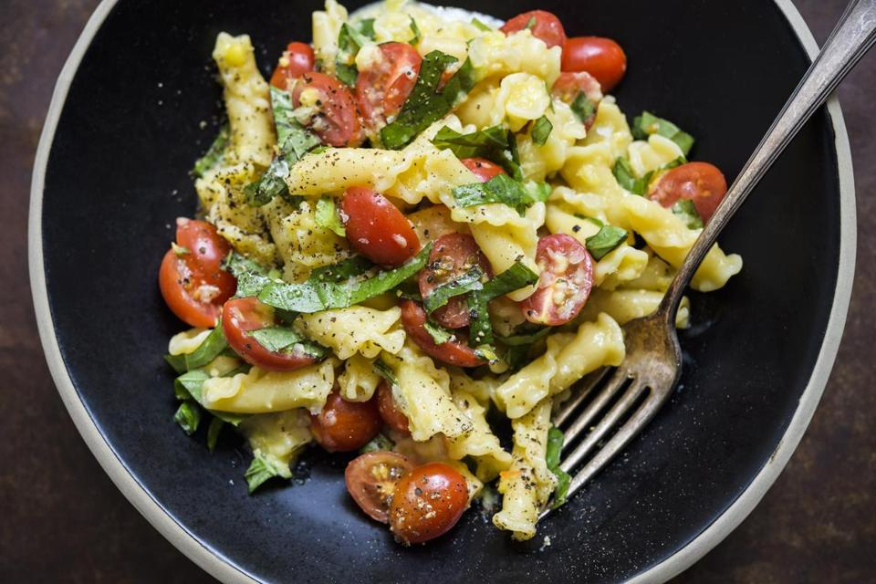 Campanelle With Sweet Corn, Tomatoes, and Basil